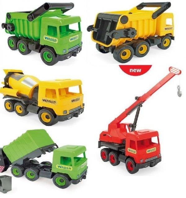 Middle Truck  śmieciarka red w kartonie