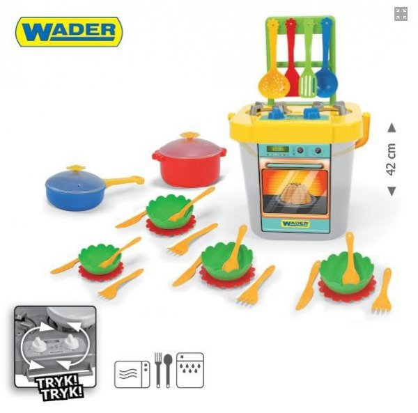 Wader 24140 - Kuchnia z akcesoriami 31 elementów