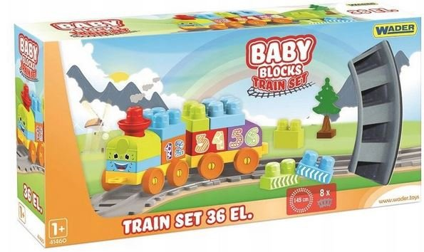 Baby Blocks kolejka 1,45 m- 36el.