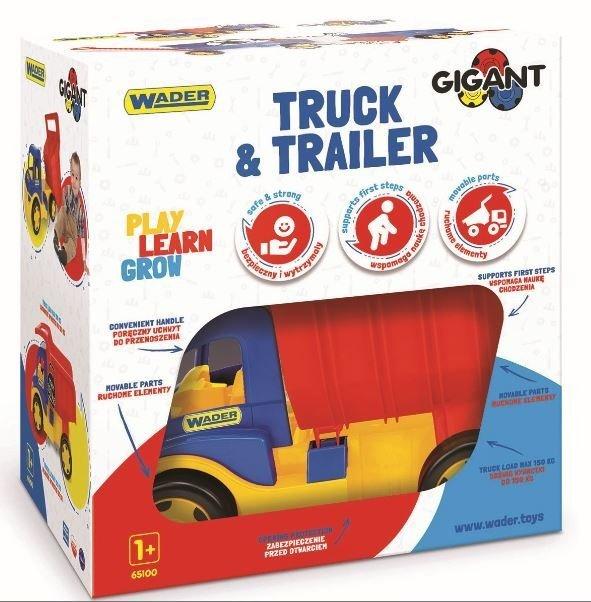 Gigant Truck wywrotka z przyczepą Wader 65100