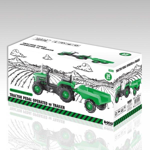Traktor na pedały z przyczepką  DOLU - DL8053
