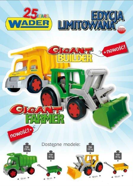 Gigant Traktor z łyżką i przyczepą- Farmer Wader (66015 + 10915)