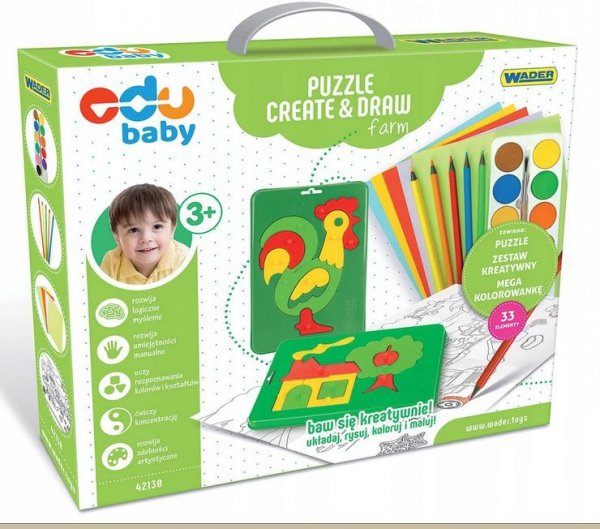 Puzzle Creat&Draw farma WADER 42130