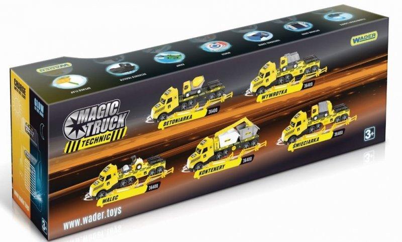 Magic Truck Technic laweta z wywrotką WADER 36420