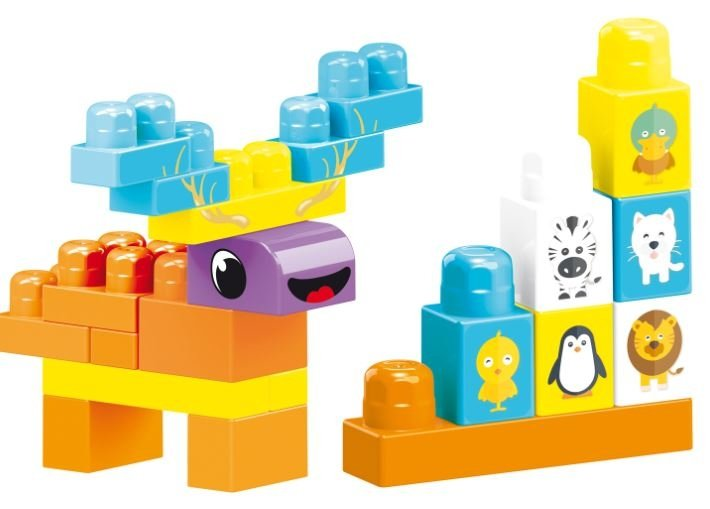 Baby Blocks torba z klockami 100 szt WADER 41420