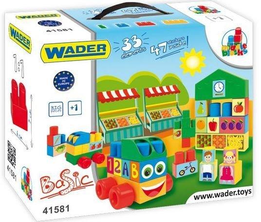 Wader 41581 Klocki Middle Blocks - 33el. +naklejki