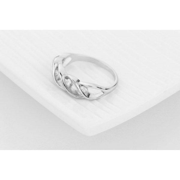 PIERŚCIONEK KRYSZTAŁKI STAL CHIRURGICZNA 469, Rozmiar pierścionków: US7 EU14