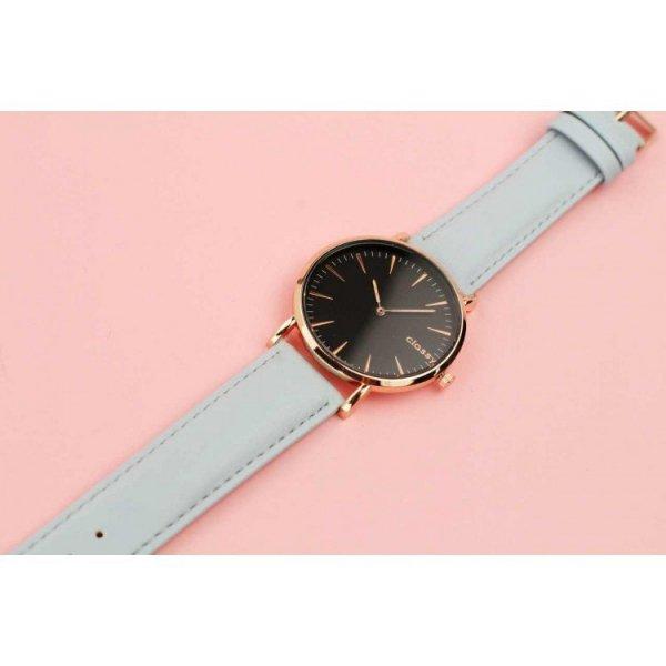 Zegarek damski classy czarna tarcza na pasku Z691N
