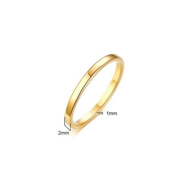 Pierścionek stal chirurgiczna platerowana złotem PST525, Rozmiar pierścionków: US6 EU11