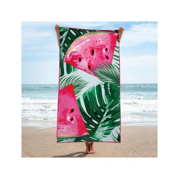 Ręcznik plażowy prostokątny duży 170x90 Arbuz REC46WZ1