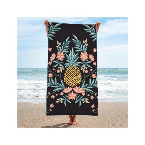 Ręcznik plażowy prostokątny 170x90 Ananas REC46WZ3
