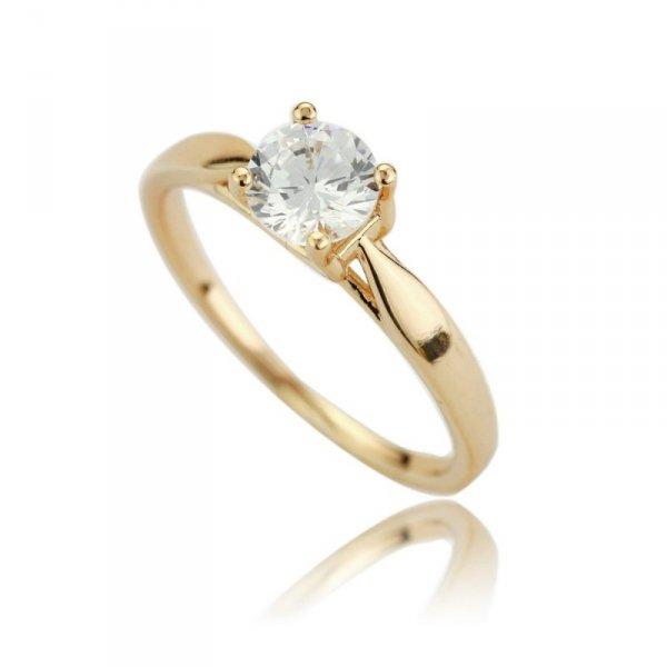 Pierścionek stal chirurgiczna platerowana złotem 559, Rozmiar pierścionków: US10 EU22