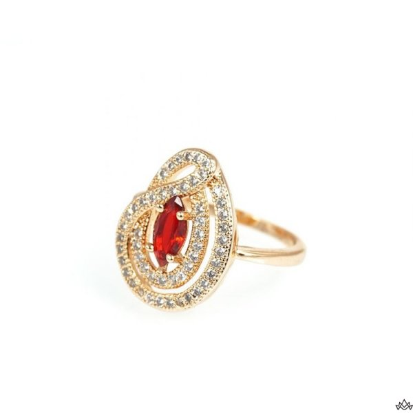 Pierścionek Stal Chirurgiczna 342 czerwień, Rozmiar pierścionków: US9 EU20