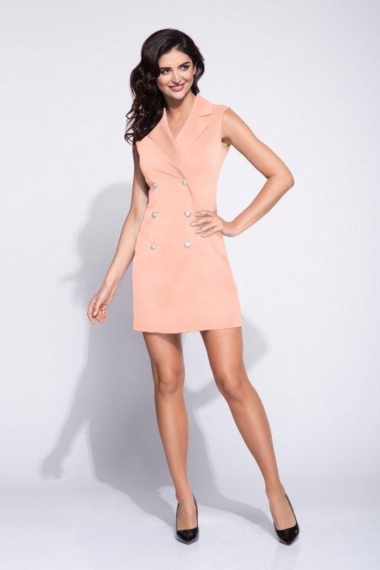 koktajlowa sukienka o żakietowym kroju