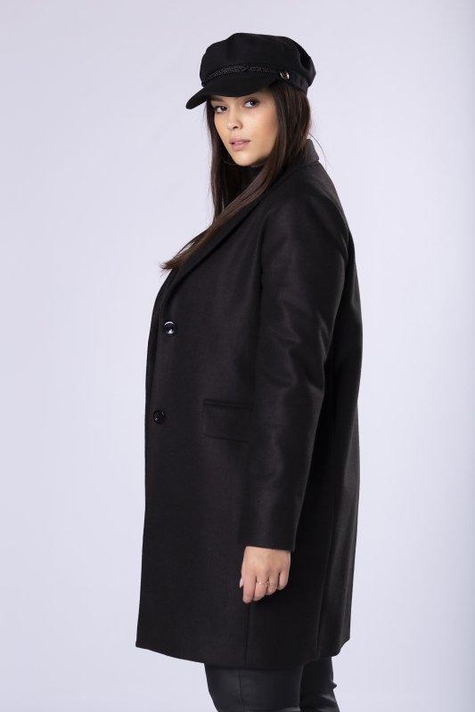 klasyczny jednorzędowy płaszcz