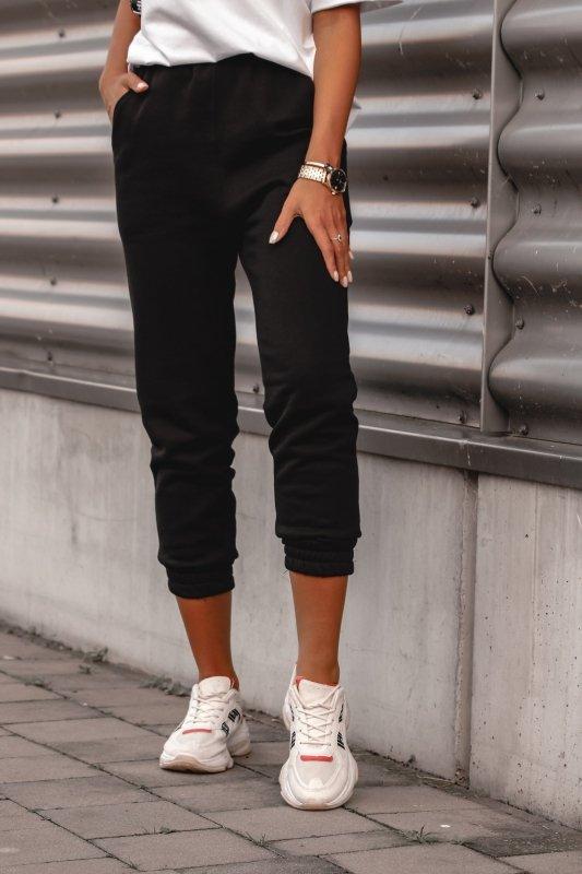 klasyczne spodnie dresowe ze ściągaczami