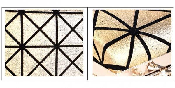 Efektowna kopertówka z wzorem Srebrna