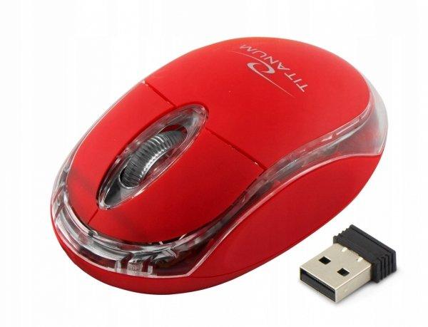 MYSZ BEZPRZ. 2.4GHZ 3D OPT. USB CONDOR CZERWONA