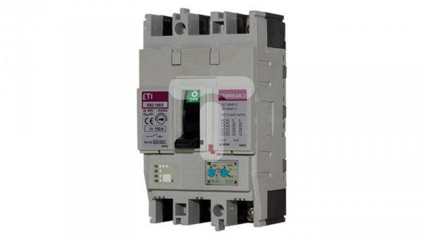 Wyłącznik mocy 3P 125A 25kA /wyzwalacz termo-magnetyczny/ EB2 125/3L 004671026