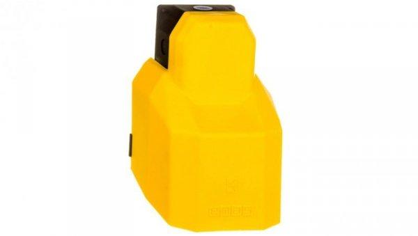 Wyłącznik nożny pojedynczy z osłoną żółtą plastk 1Z 1R 1 krok T0-PPKS11BX10