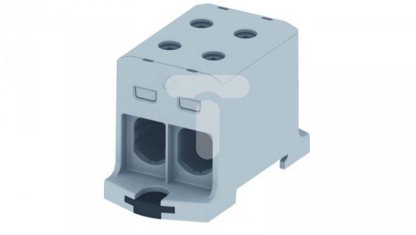 Złączka szyn. gwint rozgał AL/CU 25-150mm2 TS35 1-tor 4-otw zac OTL150-2 szary MAA2150A10 89736002