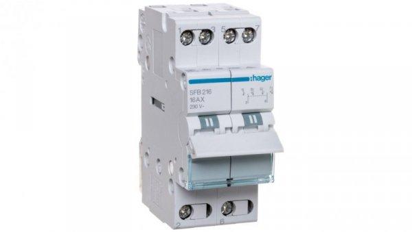 Przełącznik modułowy 1-0-2 16A 2P SFB216