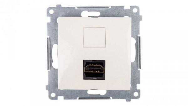Simon 54 Gniazdo HDMI kremowe DGHDMI.01/41