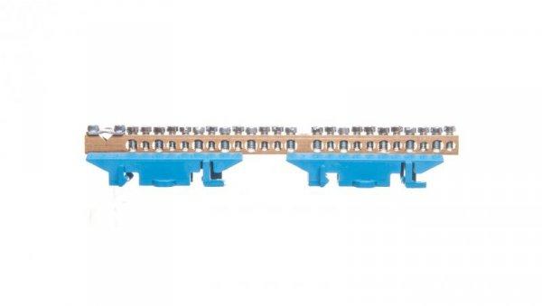 Listwa zaciskowa na szynę 25-torowa neutralna niebieska KM25N