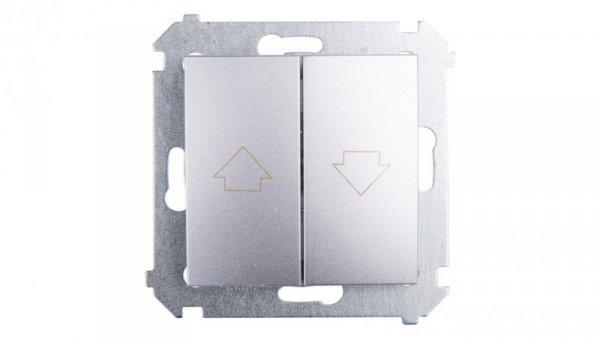 Simon 54 Przycisk żaluzjowy z blokadą elektryczną srebrny mat DZP1W.01/43