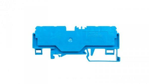Złączka szynowa 4-przewodowa 4mm2 niebieska 880-834