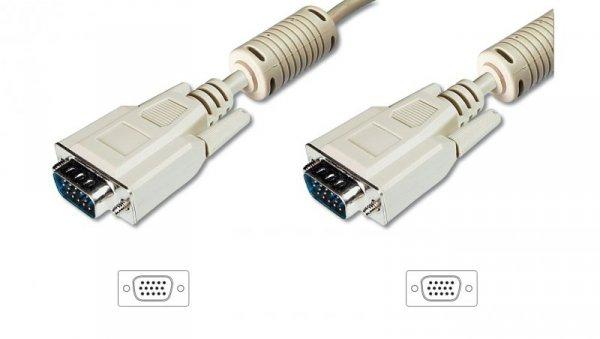 Kabel połączeniowy SVGA Typ DSUB15/DSUB15, M/M beżowy 20m AK-310103-200-E