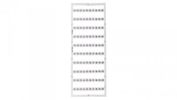 Oznaczniki Mini-WSB 10x 11-20 biały 248-503 /5szt./