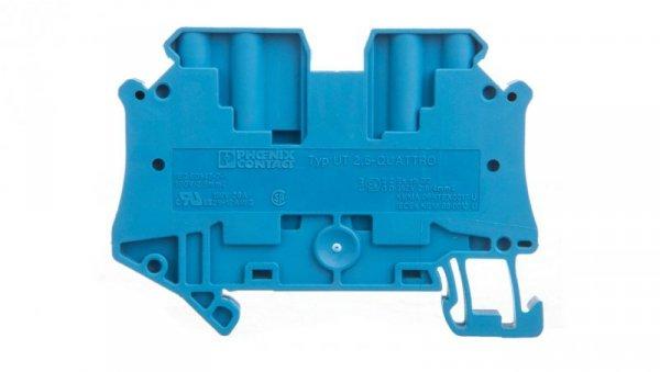 Złączka szynowa 4-przewodowa 2,5mm2 niebieska Ex UT 2,5-QUATTRO BU 3044555 /50szt./