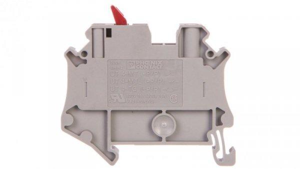 Złączka przelotowa 2-przewodowa z odłącznikiem nożowym 4mm2 szara UT 4-MTL-P/P KNIFE-RD 3046154 /50szt./