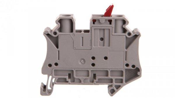 Złączka przelotowa 2-przewodowa z odłącznikiem nożowym 6mm2 szara UT 6-MTL-P/P KNIFE-RD 3046155 /50szt./