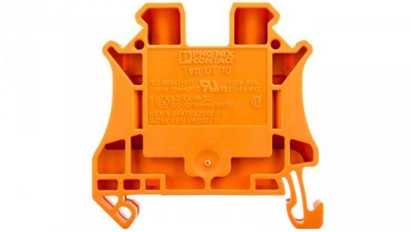 Złączka szynowa 2-przewodowa 10mm2 pomarańczowa Ex UT 10 OG 3046281 /50szt./