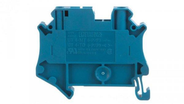 Złączka szynowa rozłączalna 2-przewodowa 4mm2 niebieska UT 4-TG BU 3073283 /50szt./