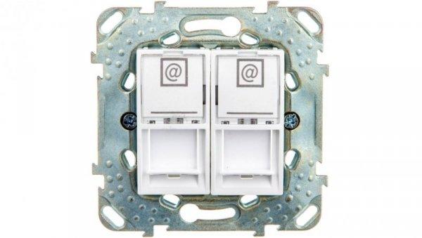 Unica Plus Gniazdo komputerowe podwójne 2xRJ45 biel polarna  MGU50.6161.18Z