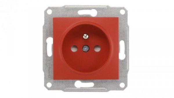 Sedna Gniazdo pojedyncze z/u 16A IP20 z przesłonami czerwone SDN2800441