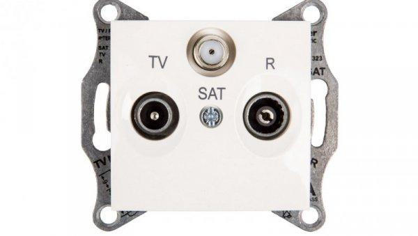 Sedna Gniazdo antenowe RD/TV/SAT przelotowe kremowe SDN3501423