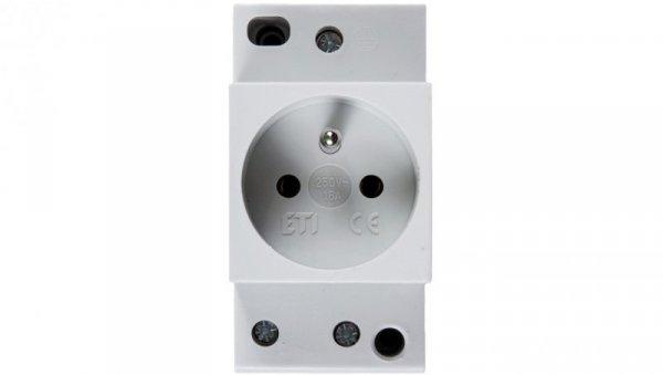 Gniazdo modułowe 2P+Z 10/16A 230V na szynę 002414010