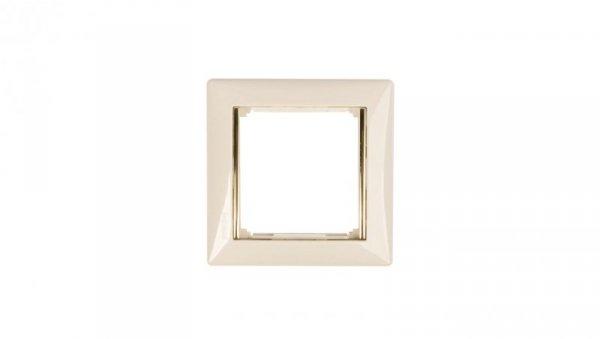 VALENA Ramka pojedyncza pozioma krem/złoto 774151