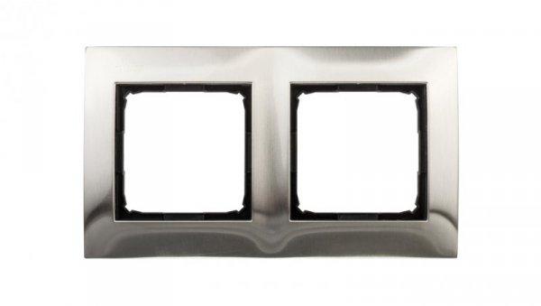 Simon 54 Premium Ramka podwójna metalowa inox DR2/61