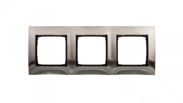 Simon 54 Premium Ramka potrójna metalowa inox DR3/61