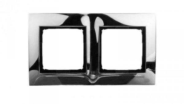 Simon 54 Premium Ramka podwójna metalowa chrom DR2/63