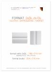 ulotka 2xDL składana do DL, druk pełnokolorowy obustronny 4+4, na papierze kredowym, 250 g, 10000 sztuk