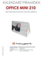 kalendarz biurkowy Mini 210 - spiralowany 13 autorskich kart jednostronnych, 210 x 110 mm - 100 sztuk
