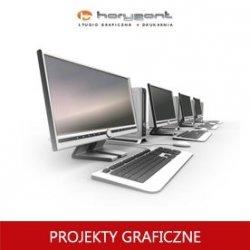 projekt graficzny, skład z przygotowaniem do druku pliku graficznego ulotki jednostronnej lub dwustronnej (1 projekt + 2 korekty - do produkcji Horyzont)