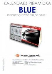 kalendarz biurkowy piramidka - BLUE - 1000 sztuk
