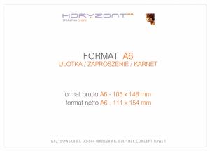 zaproszenie - karta A6, druk dwustronny, kreda 350 g, bez folii 250 sztuk